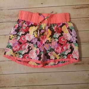 Girls Real Love floral shorts size 14/16